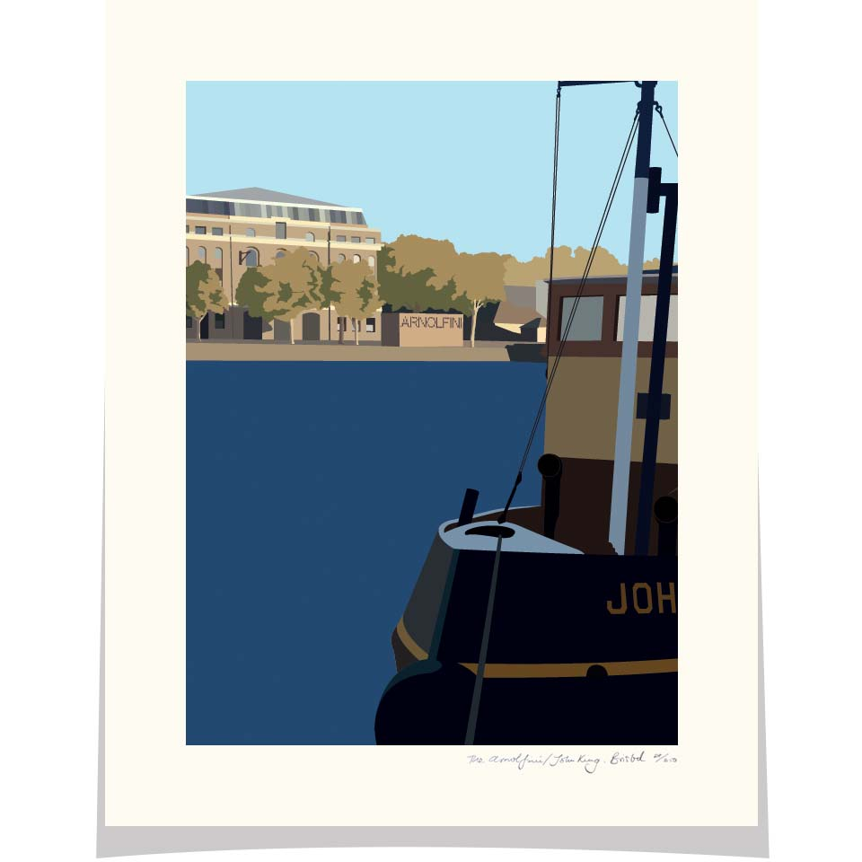 Arnolfini and The John King, Bristol Floating Harbour, Bristol