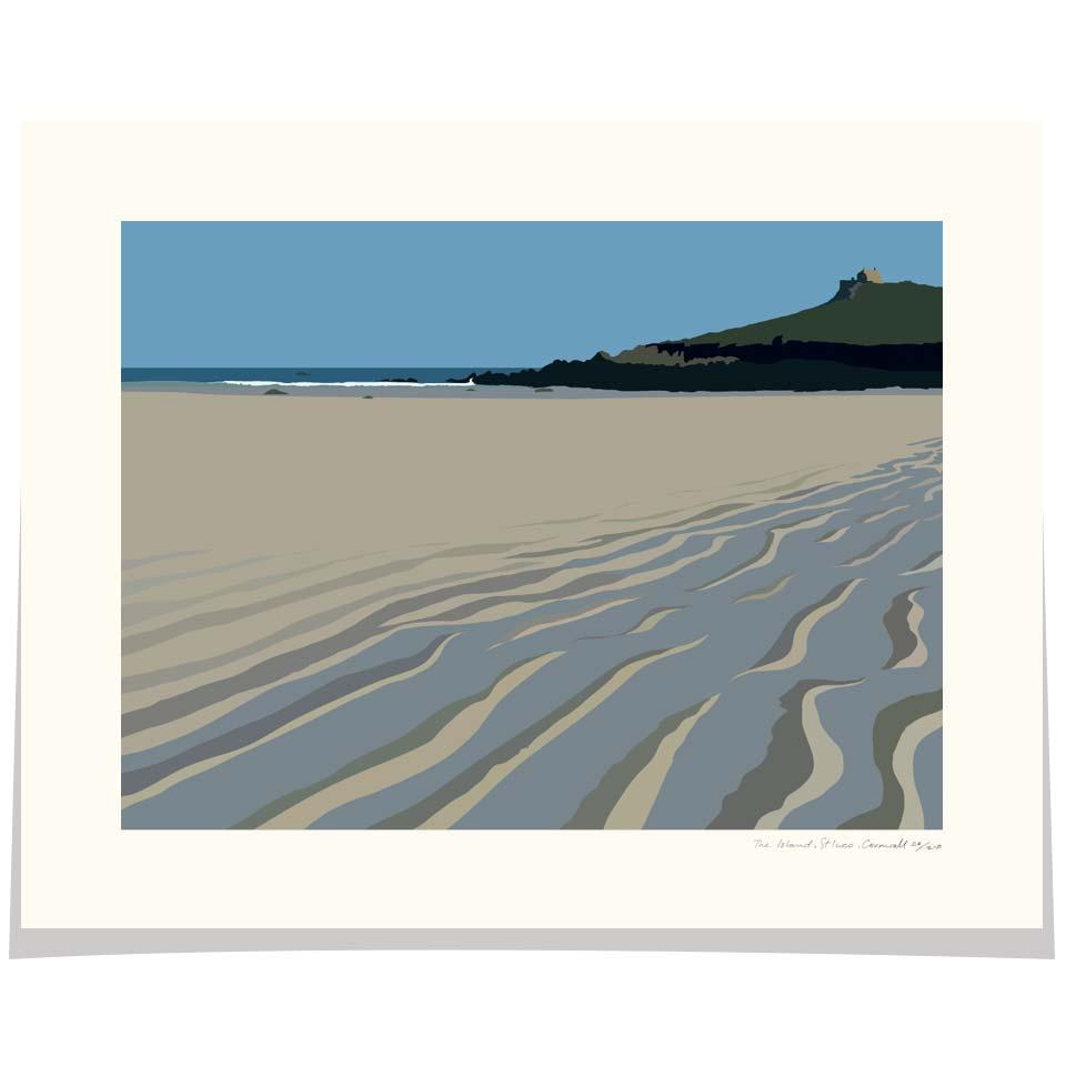 The Island Porthmeor beach St Ives Cornwall